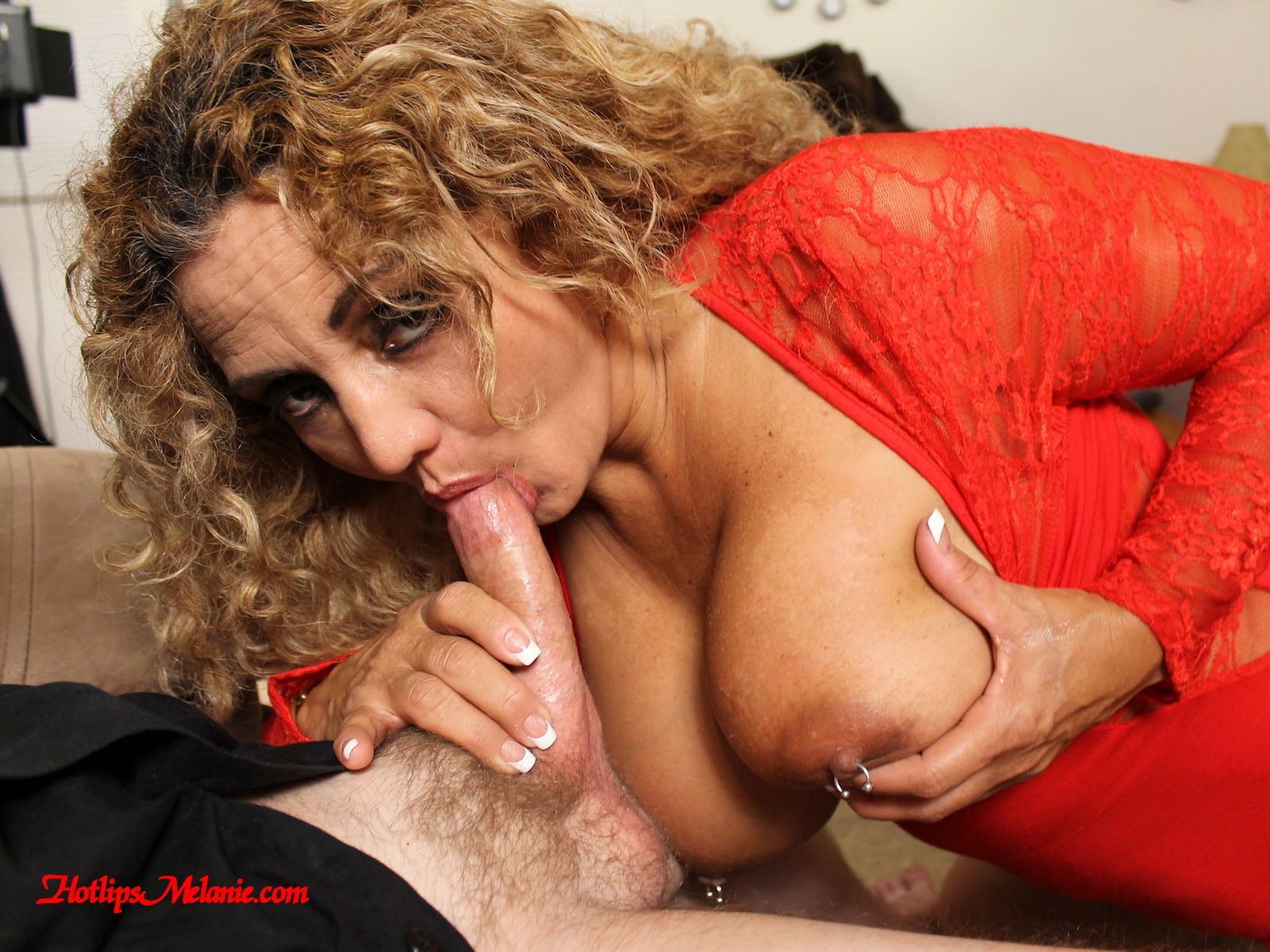 Cougar sucking cock